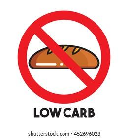 Low carb vector icon
