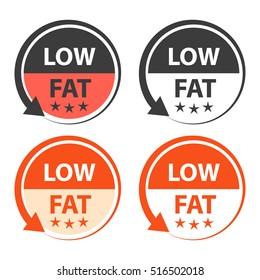 Low fat food labels.