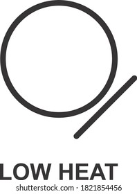 LOW HEAT ICON, SIGN AND SYMBOL