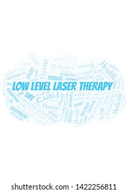 Low Level Laser Therapy word cloud. Wordcloud made with text only.