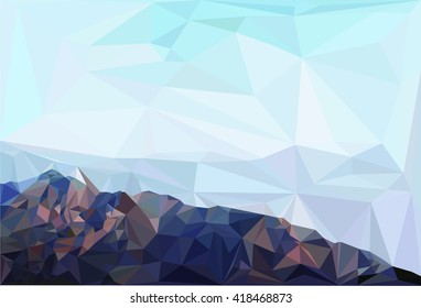 A low poly abstract mountain .