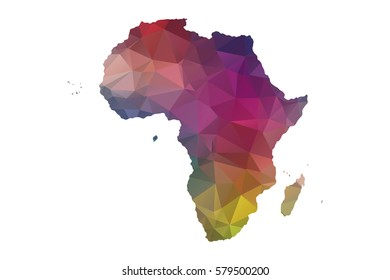 low poly africa map