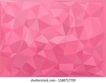 Low poly art pink background vector illustration flat design