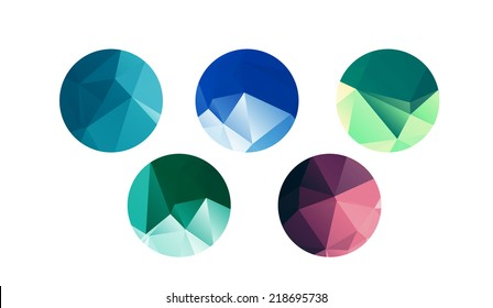 Low poly circles