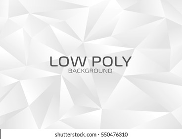 Low Poly Design.White gray abstract background.Modern style