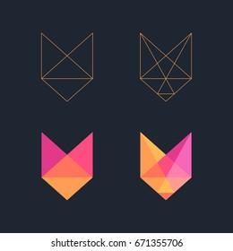 Low poly Fox logo