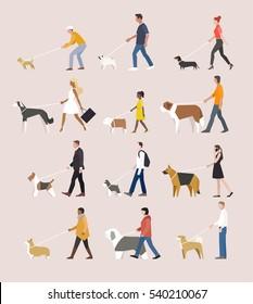 low poly geometric animal dog vector illustration flat design