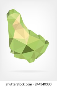 Low Poly map of Barbados
