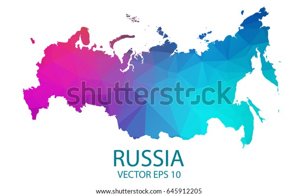 Low Poly Map Russia Colorful Polygonal Stock Vector (Royalty ... Russia Map Colorful on korea map, china map, poland map, australia map, united kingdom map, france map, iraq map, soviet union map, europe map, africa map, italy map, asia map, saudi arabia map, romania map, india map, baltic map, canada map, japan map, eurasia map, germany map,