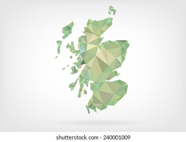 Low Poly map of Scotland