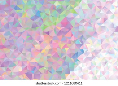 Low poly mosaic background. Template design. Copy space. Vector clip art.