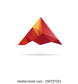 Low poly mountain design. Vector illustration