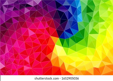 low poly multi-colored bright rainbow
