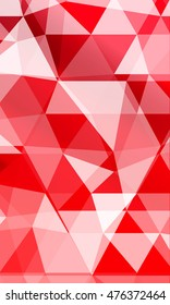 low poly red gradient background. causing polygonal banner. to promote your products. vector illustration. to design banners, presentations, brochures greeting. vertical orientation