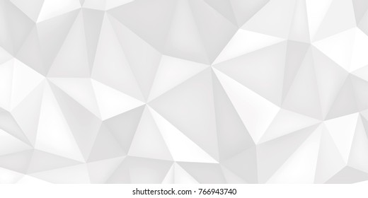 Low poly shapes, light polygonal background, white crystals, triangles mosaic, creative origami wallpaper, templates vector design