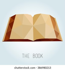 low poly style book. vector illustration
