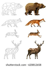 Polygon Animal Images, Stock Photos & Vectors | Shutterstock