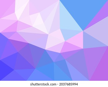 Low polygon abstract background with colorful gradient