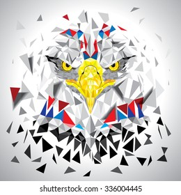 Low polygon Eagle illustration vector