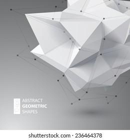 Low polygon geometry shape. Vector illustration