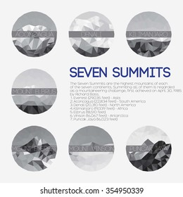 Low polygon seven summits