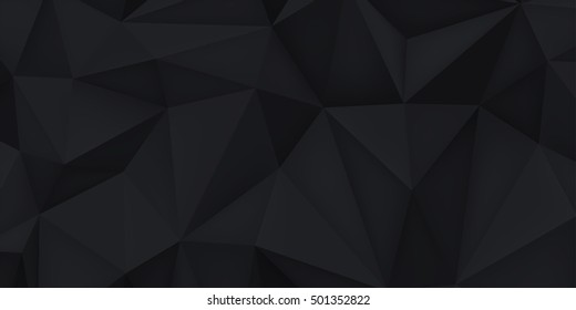 Abstract Modern Background Black Polygon Vector Stock Vector