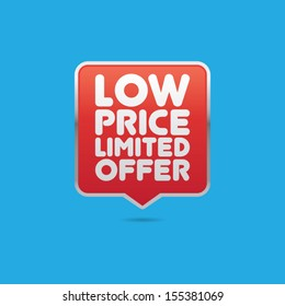 Low Price Limited Offer Pin Label
