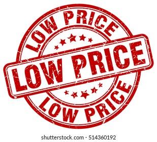 low price stamp.  red round low price grunge vintage stamp. low price