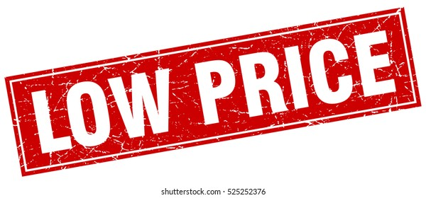 low price. stamp. square grunge isolated low price sign