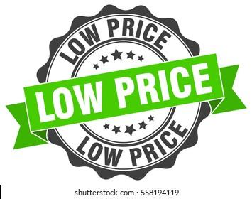 low price. stamp. sticker. seal. round grunge vintage ribbon low price sign