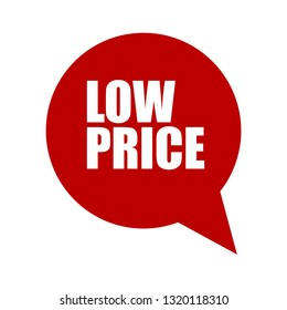 low price sticker,label, banner.red color