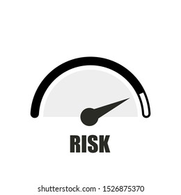 low risk concept, low, medium or high risk on speedometer