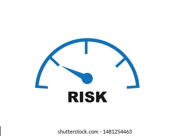 Low risk icon vector on white background