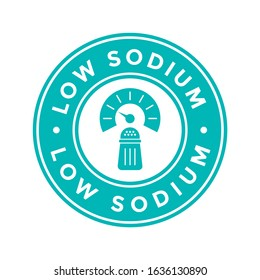 Low sodium badge or logo vector template.