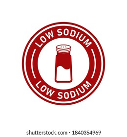 Low sodium badge vector logo template. Suitable for product label