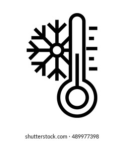 Low Temperature Vector Icon