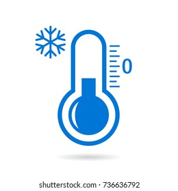 Low temperature vector pictogram illustration isolated on white background