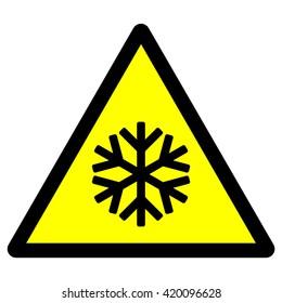Low temperature warning sign , vector illustration