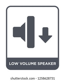 low volume speaker icon vector on white background, low volume speaker trendy filled icons from Music and media collection, low volume speaker simple element illustration