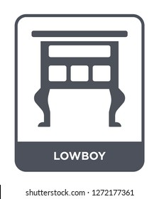 lowboy icon vector on white background, lowboy trendy filled icons from Furniture and household collection, lowboy simple element illustration