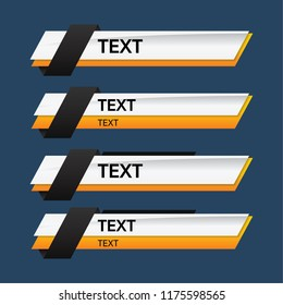 Lower third design template. Vector illustration.