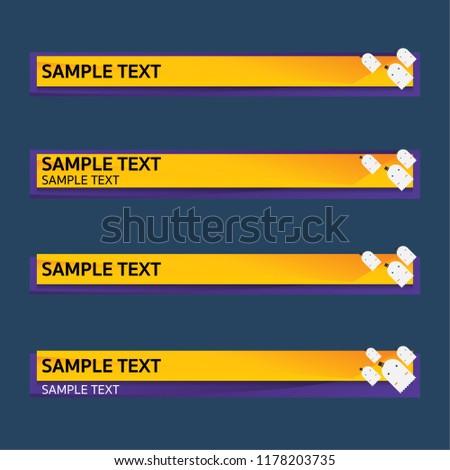 lower third design template vector illustration stock vector