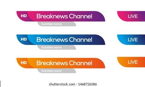 Lower third tv channel design idea, vector design template graphics, modern shape of design.