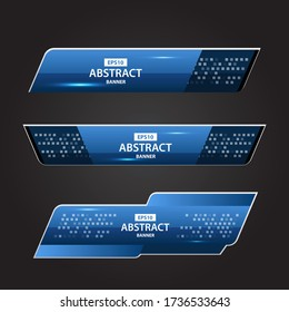 Lower Thirds Blue Technology Vector EPS10