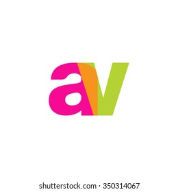 lowercase av logo, pink green overlap transparent logo, modern lifestyle logo