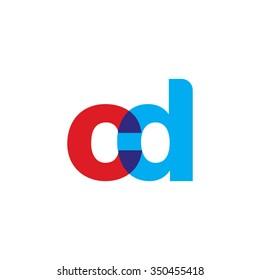 lowercase cd logo, red blue overlap transparent logo