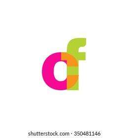 lowercase cf logo, pink green overlap transparent logo, modern lifestyle logo
