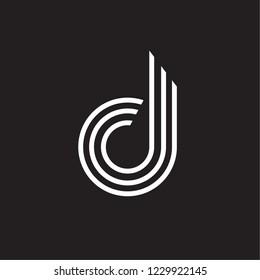 Lowercase D Letter Line Logo