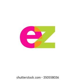 lowercase ez logo, pink green overlap transparent logo, modern lifestyle logo