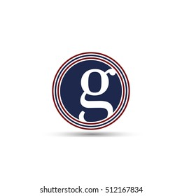lowercase g layered circles logo vector Editable For Your Design